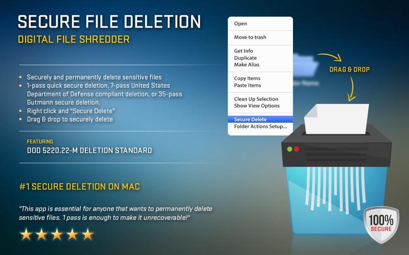 Secure File Deletion Screenshot