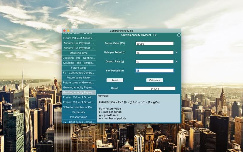 GeneralFinanceCalc for Mac