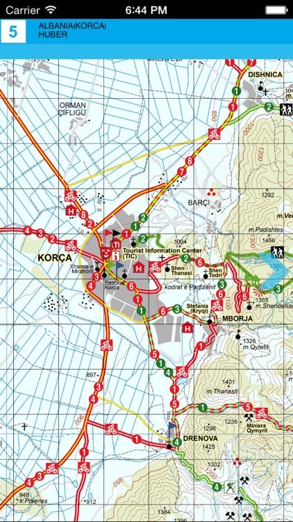 Korce. Tourist map. screenshot-3