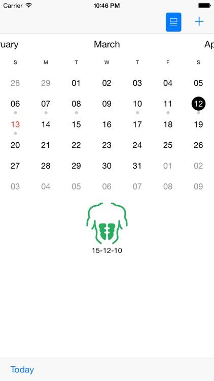 Gym Calendar Light screenshot-3