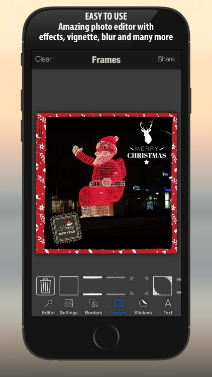 Xmas Photo Card Maker : Merry Christmas & Happy New Year Stickers, Borders, Pic Frames screenshot-3
