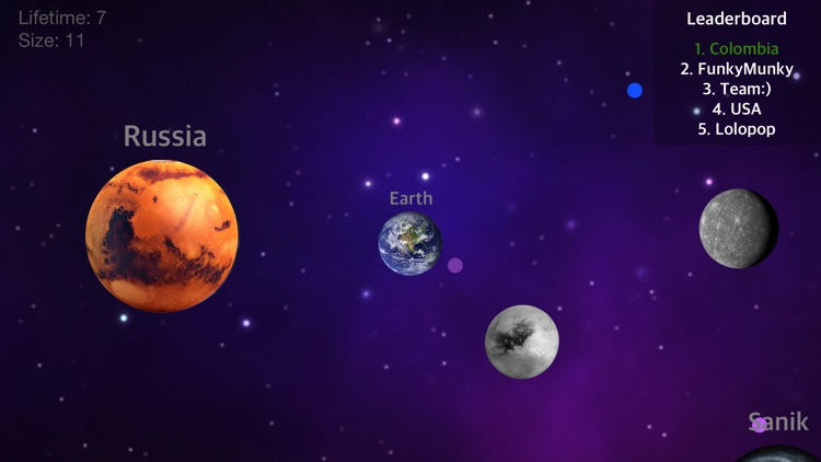 Nebula - War of the Planets: Nebulous Galaxy Diep Dots.io Balls Leveled Pocket screenshot-3