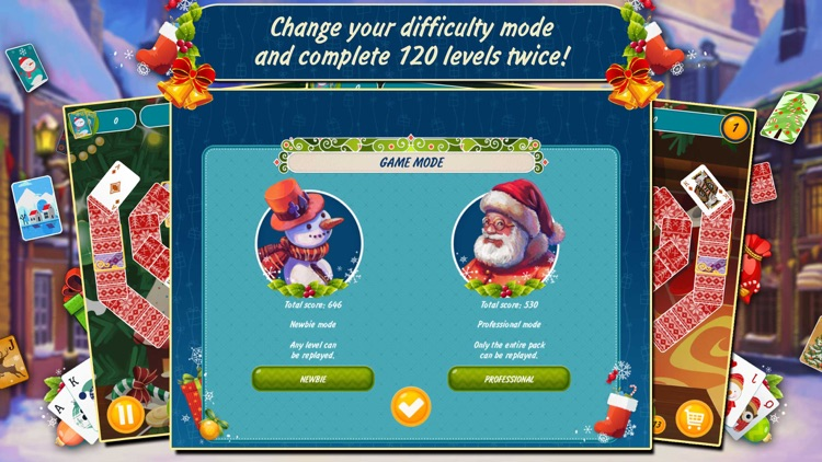 Solitaire Christmas. Match 2 Cards Free. Card Game screenshot-3