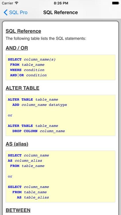 SQL Pro screenshot-3