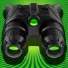 ナイトビジョンカメラ - 真! HDRは - ズーム(ビデオ、写真)と秘密のフォルダのプロで暗い(低照度モードでの暗視実)に緑のゴーグル双眼鏡を参照してください。 - iPhoneアプリ