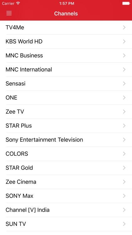 Singaporean Television Guide