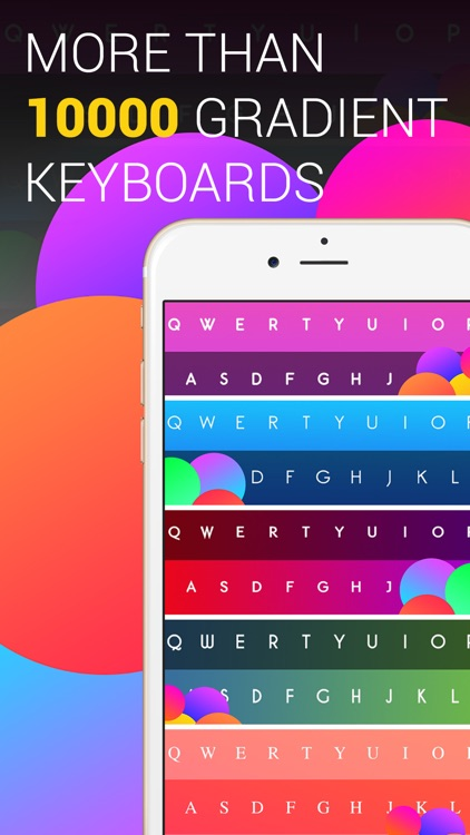 Better Fonts Gradient Keyboard