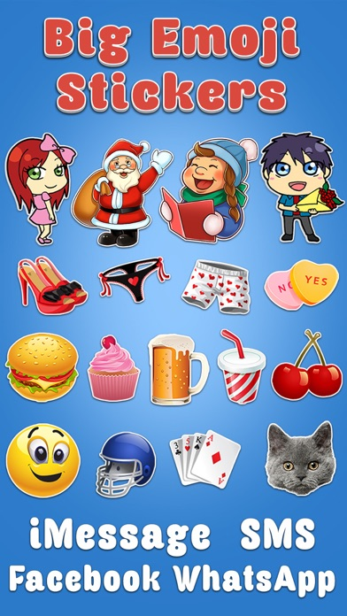 Big Emoji Keyboard - Stickers for Messages, Texting & Facebook-0