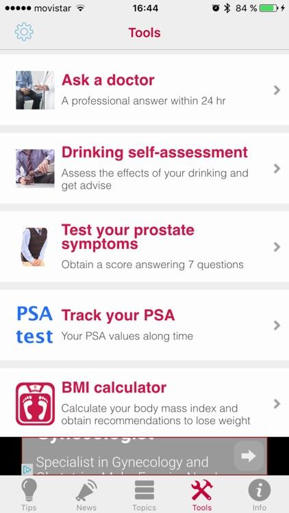 Men's App - The medical app to take care of men's health screenshot-4