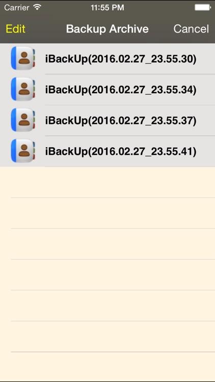 Backup of Contacts screenshot-3