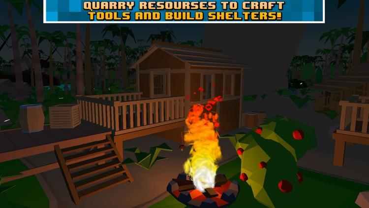 Pixel Pirate Island Survival Simulator 3D