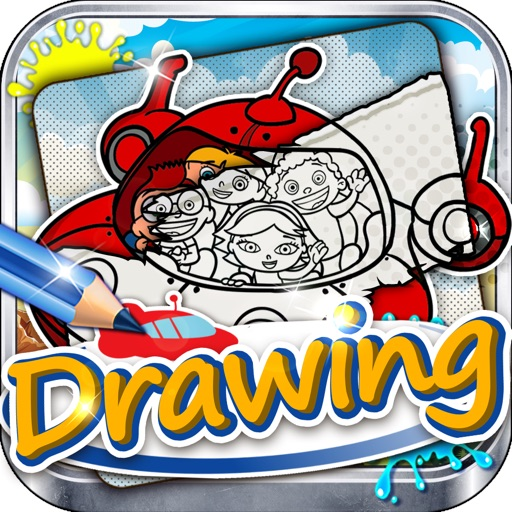 Drawing Desk Little Einsteins : Draw and Paint Games on Coloring Book Edition