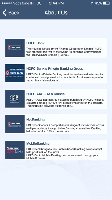 HDFC Bank AAG screenshot one