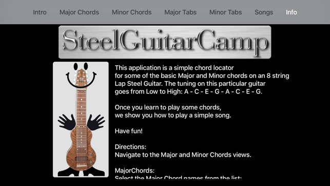 C6 Major And Minor Chord Locator On The App Store
