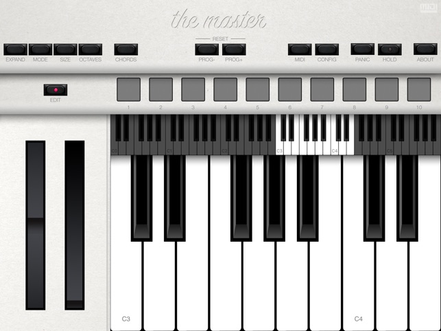 The Master MIDI Keyboard Screenshot