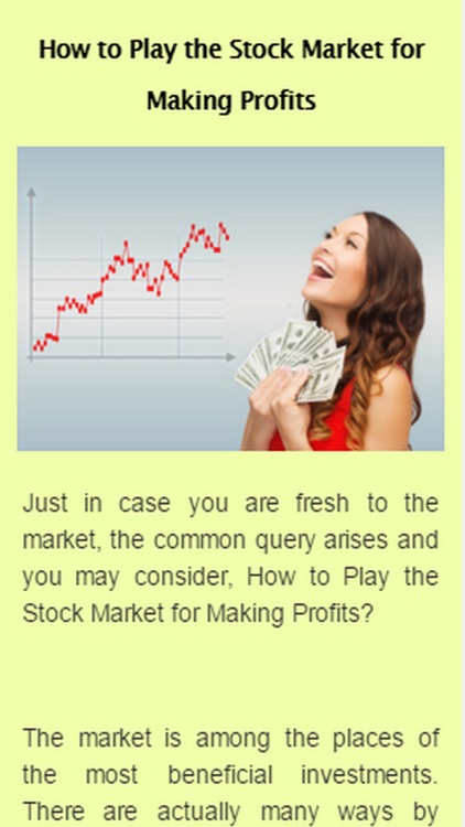 How To Play The Stock Market