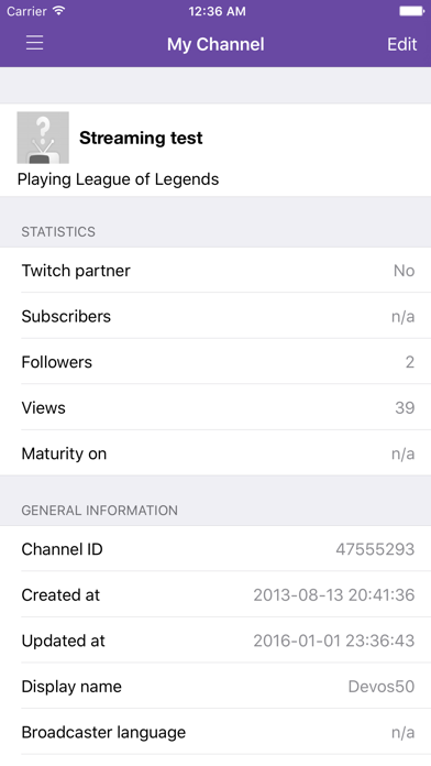 download Mobile Streaming for Twitch apps 3
