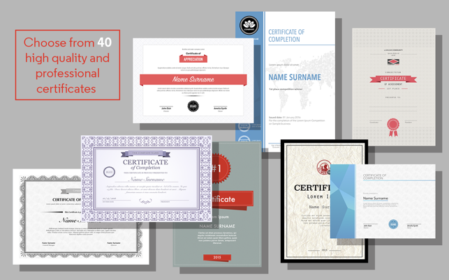 Certificate Maker for Pages