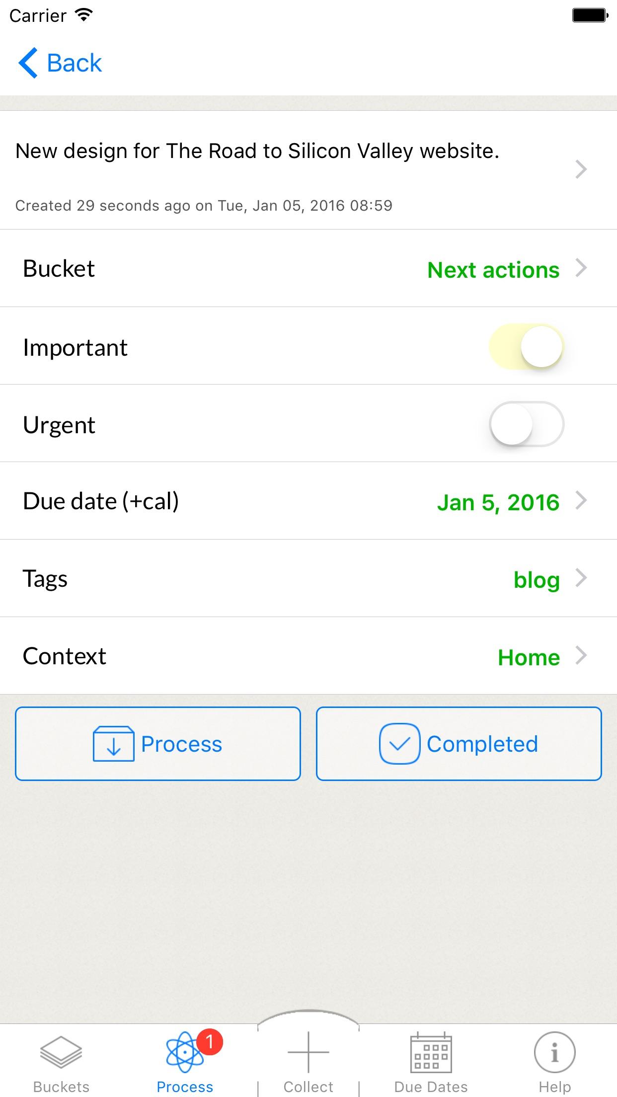 GTDfaster Free ~ Get Things Done, GTD, ToDo Lists Screenshot