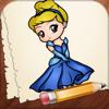 Incline-se como desenhar edição personagens cinderela