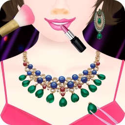Super Star Model Show:Fashion Party-Makeup,Dressup and Prom Salon Makeover Games-Nail Salon,Necklace Designer!