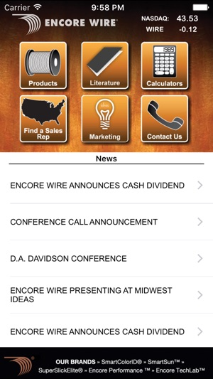 Encore Wire on the App Store