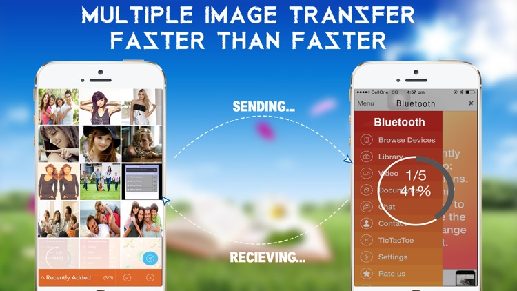 Bluetooth Transfer File - Photo - Music - Contact Share