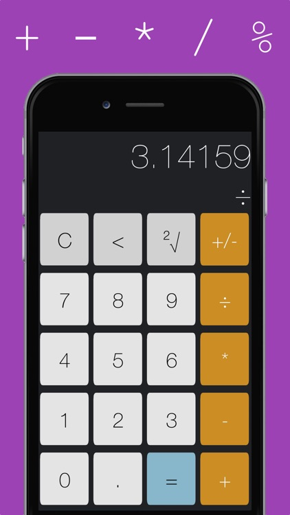 Calculightor - light and easy calculator screenshot-0