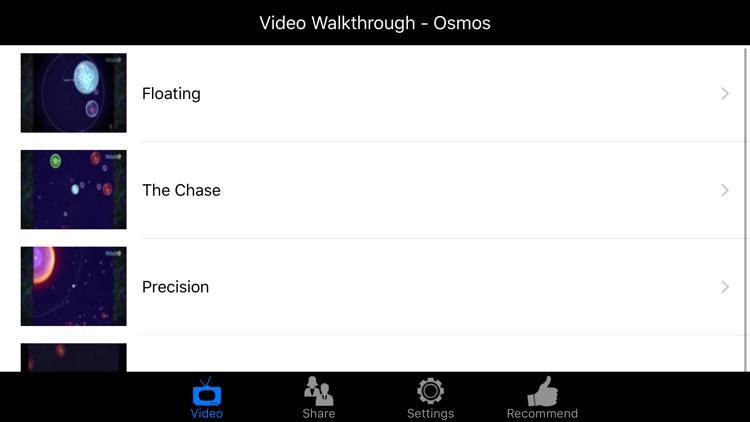 Video Walkthrough for Osmos