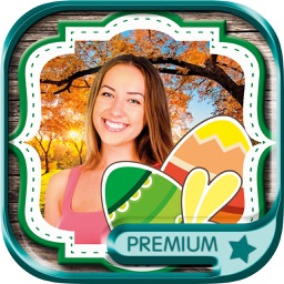 Photo editor of Easter Raster Camera to collage holiday pictures in frames - Premium