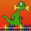 キッズ恐竜の塗り絵 - 絵画ディノゲームを描きます