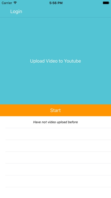 Snap Video Upload for Youtube Screenshot on iOS
