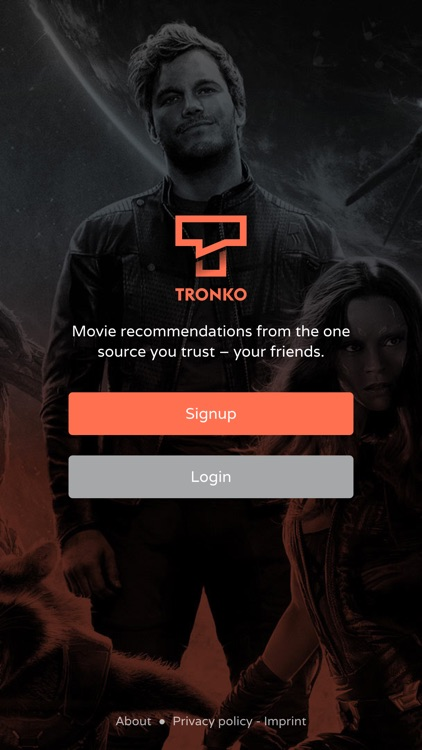 Tronko – Movie & TV show recommendations from your friends