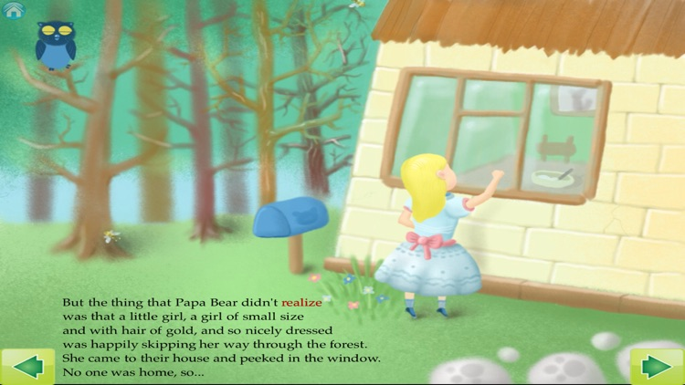 Goldilocks and The Three Bears Interactive Storybook for Children screenshot-1