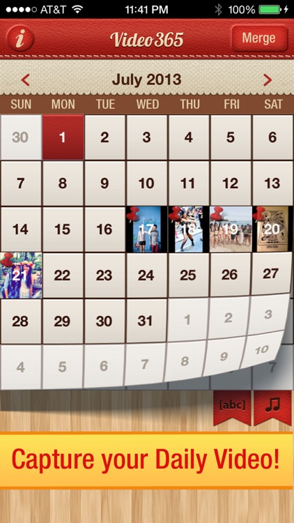 Video 365 Free Photo Journal daily picture diary calendar