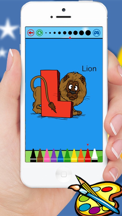 ABC Animals coloring book for kindergarten kids and toddlers screenshot-4