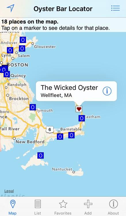 Oyster Bar Locator