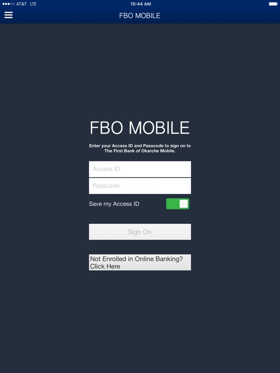 The First Bank of Okarche Mobile for iPad