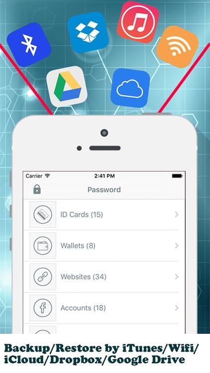 aPasswordMan - Private Password and Secure Digital Wallet Manager screenshot-3