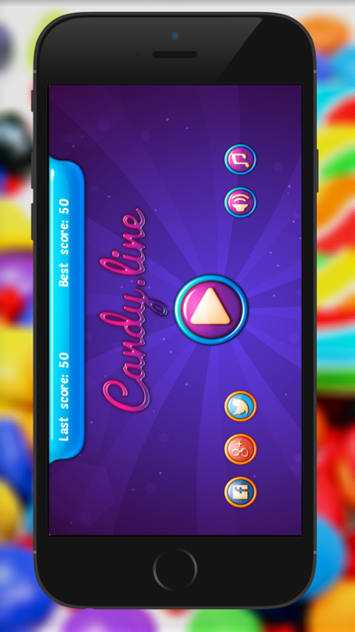 Candy Line : Matching collapse connect with friend