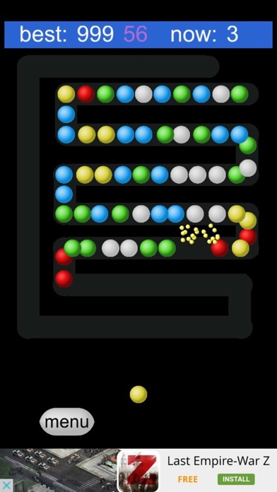 Bubble Shooter:Zig Zag Way screenshot one
