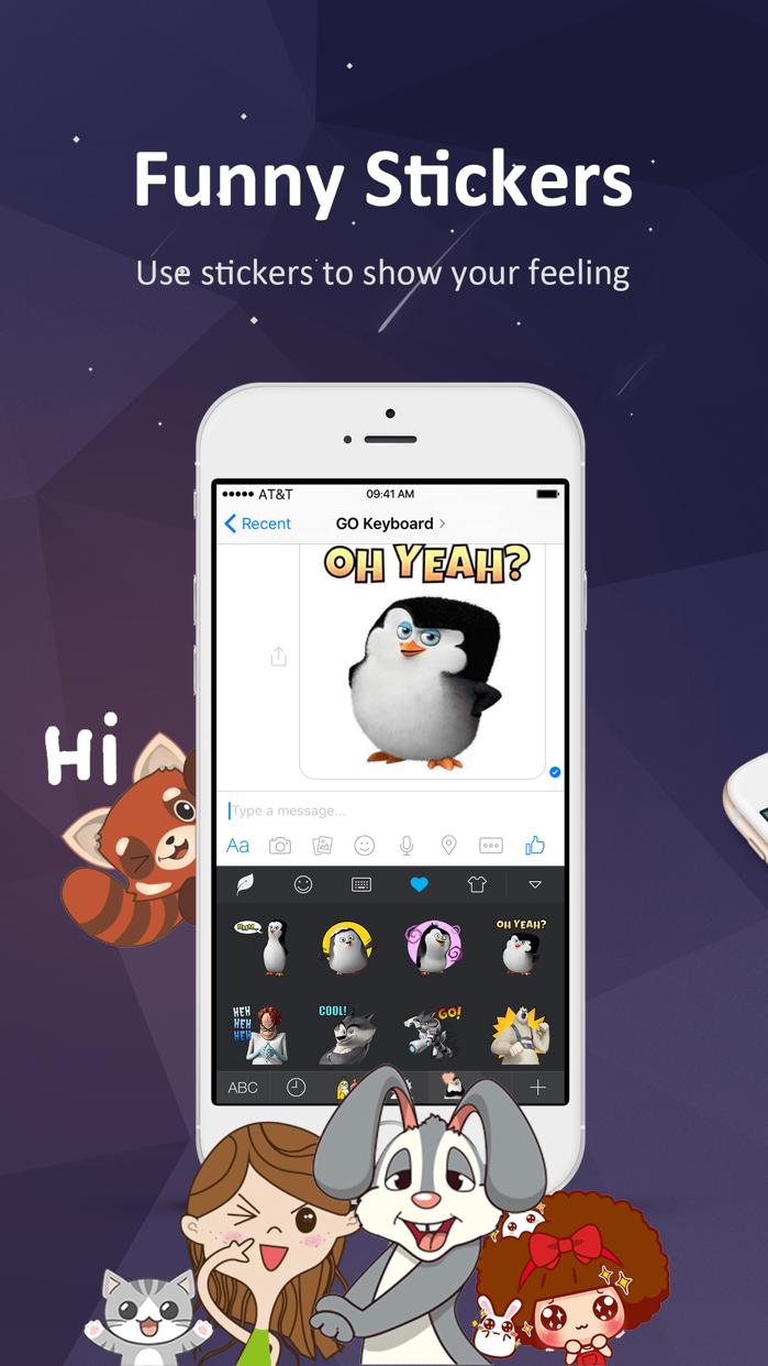 GO Keyboard-Emojis&Cool Themes Screenshot