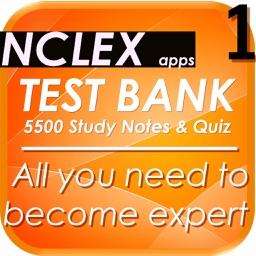 NCLEX Test Bank 5500 Notes & Quiz (Nursing)