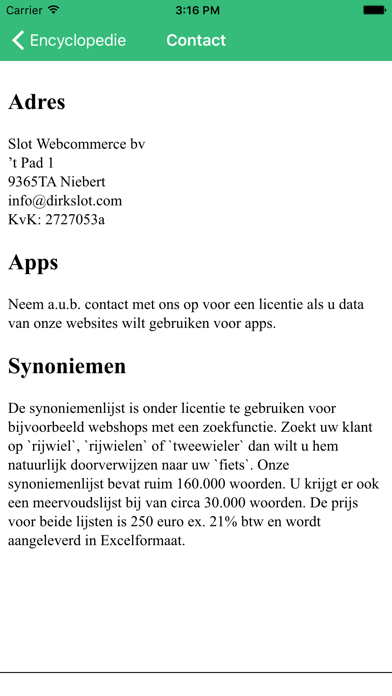 Encyclopedie (NL) screenshot three