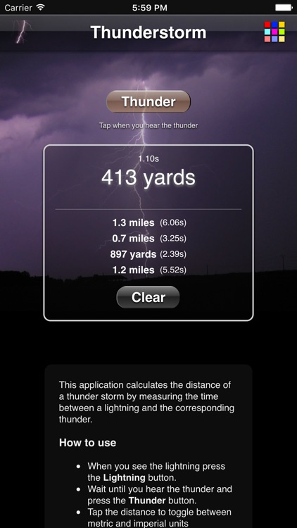 Thunderstorm Calculator screenshot-1