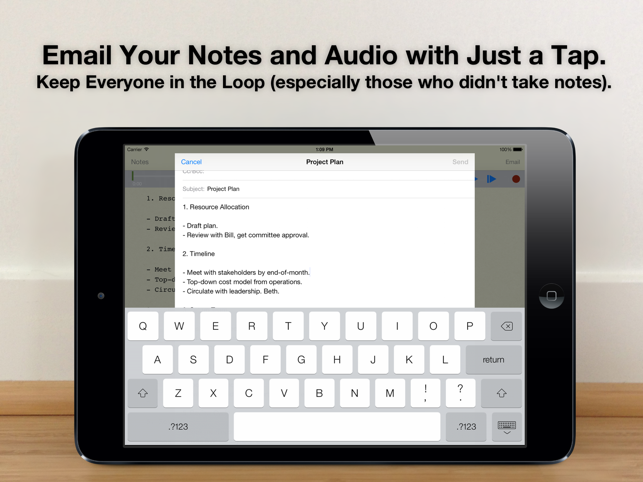 Audio Notebook: Sound Recorder Screenshot