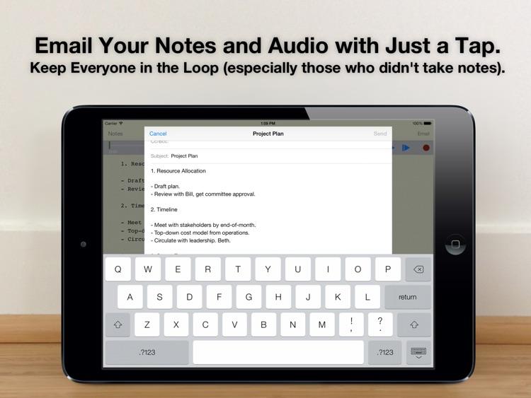 Audio Notebook: Sound Recorder screenshot-4