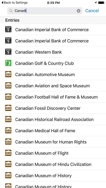 Leisuremap Canada, Camping, Golf, Swimming, Car parks, and more