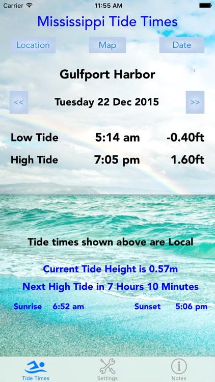 Mississippi Tide Times