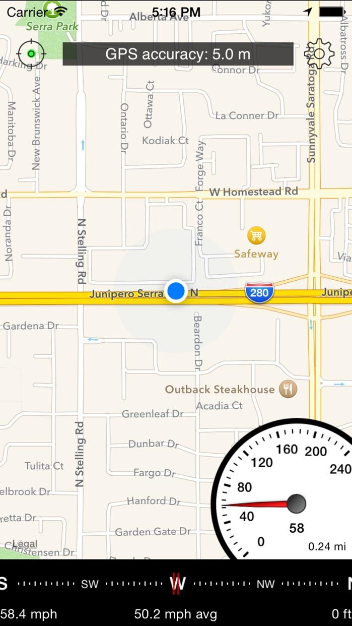 Speedometer Free Speed Box Screenshot
